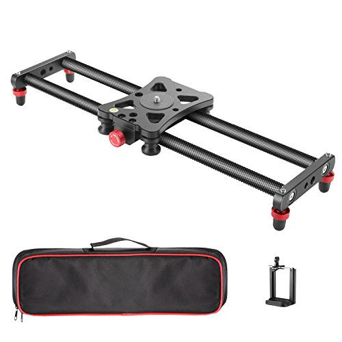 - Neewer Camera Slider Carbon Fiber Dolly Rail, 16 inches/40 Centimeters with 4 Bearings for Smartphone Nikon Canon Sony Camera 12lbs Loading