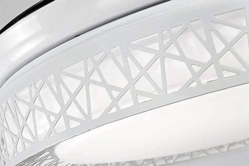 AIZPX Deckenventilator Licht LED Innendecke Kronleuchter Beleuchtung 42-Zoll-Fernbedienung -42 Zoll Bluetooth-Trikolore