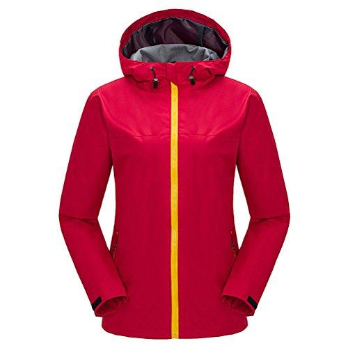 Zhuhaitf Sencillo Women Outdoor Sports Camping Single layer fashion Coat Waterproof Jacket Red