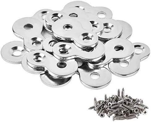 30 Pack Figure 8 Steel Desk Top Fastener Clip with Screws – Heavy Duty Figure-Eight Fasteners Clips Attaching a Table, Solid Steel, 12 Gauge