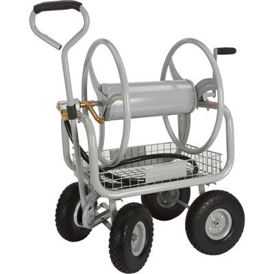 strongway garden hose reel cart holds 400ftl x 58in dia - Garden Hose Reel Cart