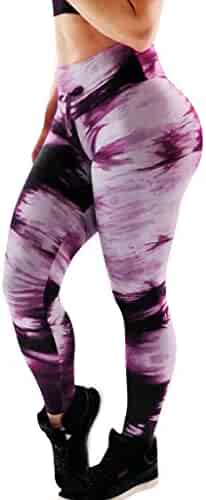 Nevera Yoga Pants for Women,Women's Printed Full-Length Regular Size Workout Leggings Pants Soft Capri Black