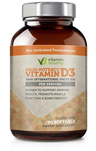 Vitamin Bounty - Vitamin D3 5,000 IU with Olive Oil - 90ct
