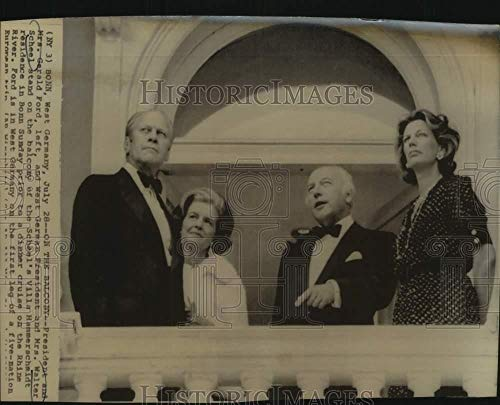 Press Photo President and Mrs. Gerald Ford at Villa Hamerschmidt, West Germany (Best Rated European River Cruises)