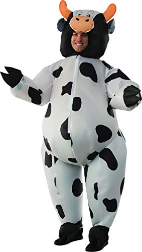 Men's Inflatable Cow Costume, Standard -