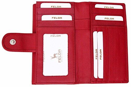 RFID Purse Genuine Leather Ladies Soft Wallet Womens Multi Colour 19 Card Slot