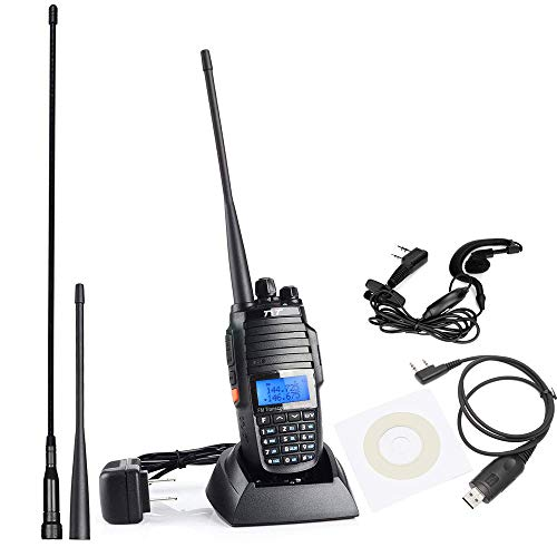 TH-UV8000D Ultra-high Output Power 10W Long Range Walkie Talkies, with Cross-Band Repeater Function Dual Band Dual Display Dual Standby Two Way Radio, with USB Programming Cable and 2 -