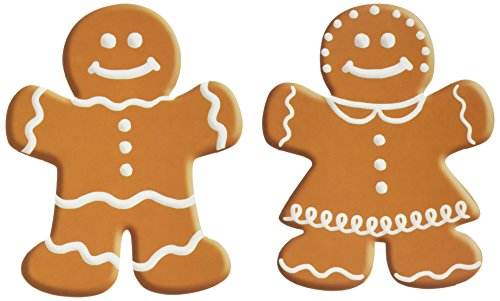(Beistle 10-Pack Mini Gingerbread Cutouts for Parties,)