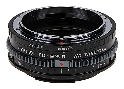 Vizelex Cine ND Throttle Lens Mount Adapter – Compatible with Canon FD & FL 35mm SLR Lenses to Canon RF Mount Mirrorless…