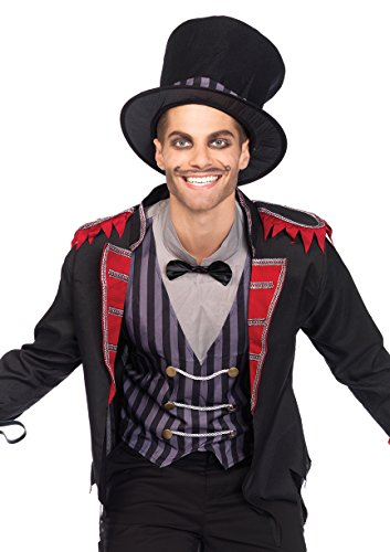 Leg Avenue Men's 3 Piece Sinister Ring Master Costume, Multi, Medium/Large ()