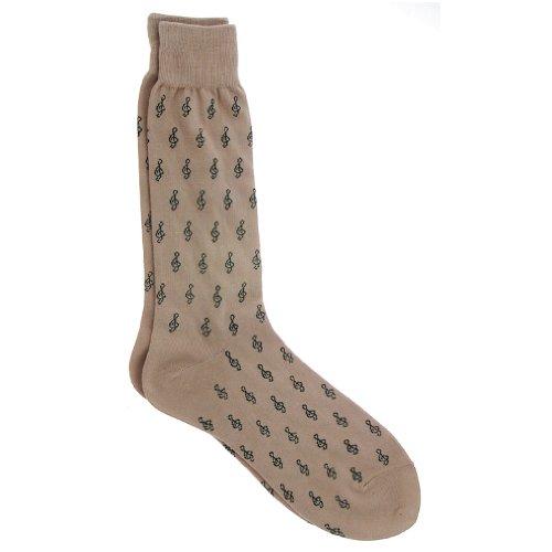 Men's Music Socks with Mini G-Clefs