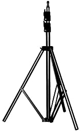 Manfrotto 367B Basic Light Stand extends up to 9 Feet with 5/8-Inch Stud and 015 Top - Replaces 3333 (Black)