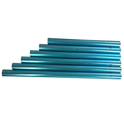 YEJI 6 Pcs Blue Large Hollow Wind Chime Tubes