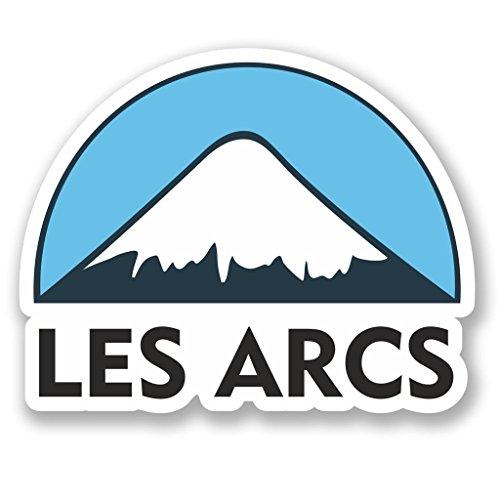 2 x 20cm/200mm Les Arcs Ski Snowboard Vinyl SELF ADHESIVE STICKER Decal Laptop Travel Luggage Car iPad Sign Fun #5133 ()