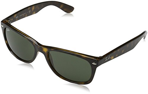 Ray-Ban Women's New Wayfarer Square Sunglasses, Tortoise, 58 - Ray Size 52 Aviator Ban
