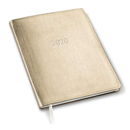 (2019/2020 Gallery Leather Large Monthly Planner Metallic Gold 9.75