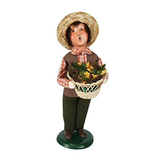 - The Carolers Byers' Choice Harvest Boy - New for 2017 - Signed by Joyce Byers #ZMS273B