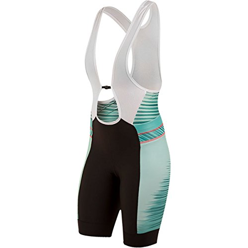 Pearl iZUMi Women's Elite Pursuit Bib Shorts, Atlantis Rush, Small