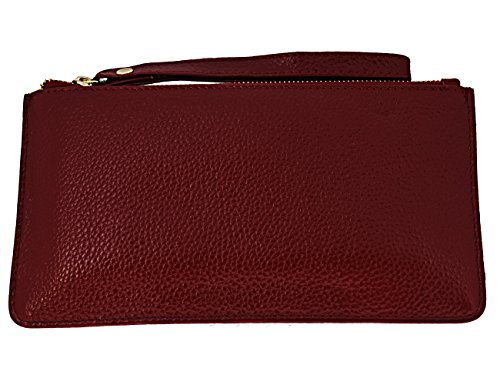 Leather Phone Slots Wallets Wine Card with Clutch Women Purses FDTCYDS for Red Black dtqwZd