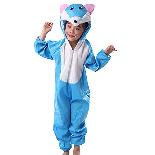 [Moolecole Halloween Christmas Kids Costume Toddler Baby Animal Costume Blue Cat M] (Toothless Dragon Cat Costume)