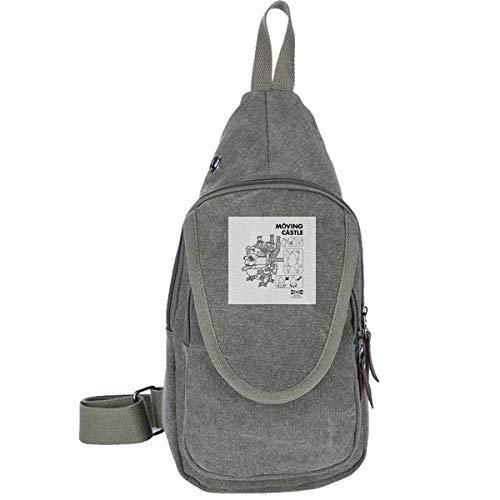 Studio Ghibli IKEA Howls Moving Castle Traveling Chest Bags For Men&Women Multipurpose Casual Daypack Hiking Shoulder Bag