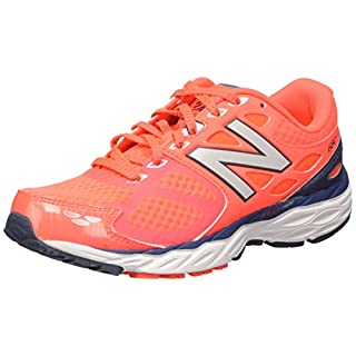 New Balance Women's W680V3 Running Shoe, Dragonfly/Flame, 5 D US