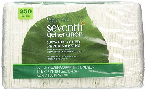 Seventh Generation 100% Recycled Napkins, Pack of 1 (Napkins Seventh Generation Lunch)