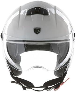 Amazon.es: Panthera casco de moto half jet City blanco brillante talla XS