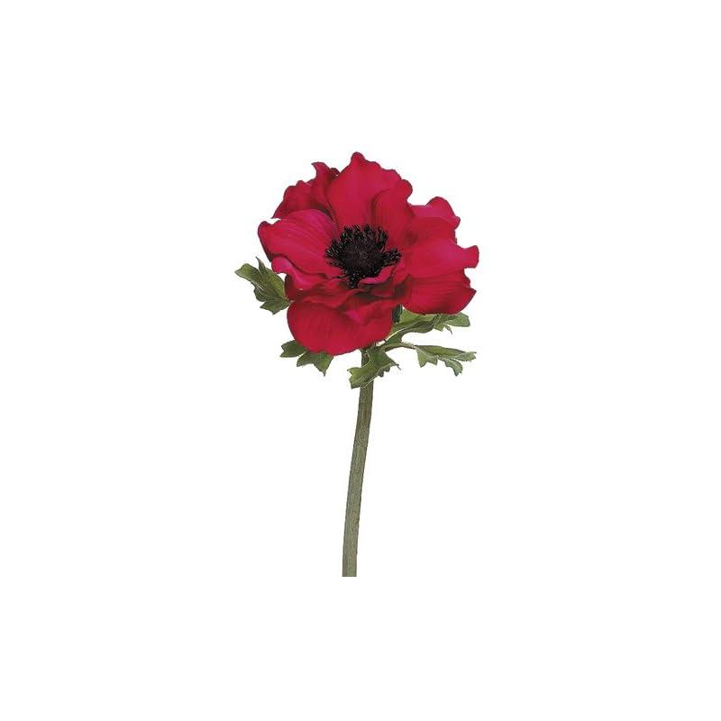 """silk flower arrangements 15"""" silk anemone flower spray -red (pack of 12)"""