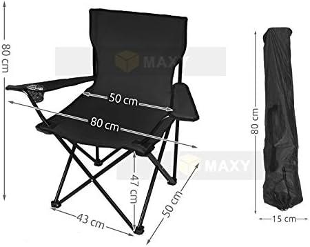 Farbe//Color:Black MALATEC Fauteuil P/êche l/éger Si/ège Confortable Camp Tabouret Noir//Bleu//Vert 8001