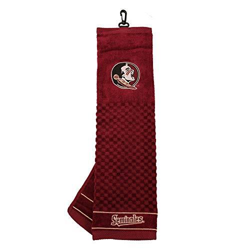 Team Golf NCAA Florida State Seminoles Embroidered Golf Towel, Checkered Scrubber Design, Embroidered Logo (Renewed)