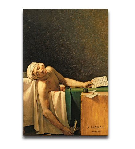 Poster Hmbrothers Stylish Art Print Famouspaint The Death Of Marat Pattern Print Wall Decorative Wall Poster 20-Inch By 30-Inch by HMBROTHERS