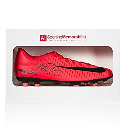 d7ae849145a Philippe Coutinho Signed Football Boot - Red Nike Mercurial - Gift Box -  Autographed Soccer Cleats at Amazon s Sports Collectibles Store