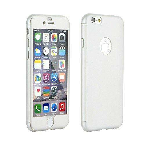 "FULL BODY 360 Silikonhülle + Panzerglas weiß Für Apple iPhone 7 4,7"" Apple iPhone 7 Handy Cover Hülle Case Handyhülle Hülle Tasche"