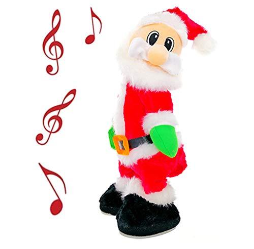 Kinteshun Twerking Christmas Santa Musical Doll,Dancing and