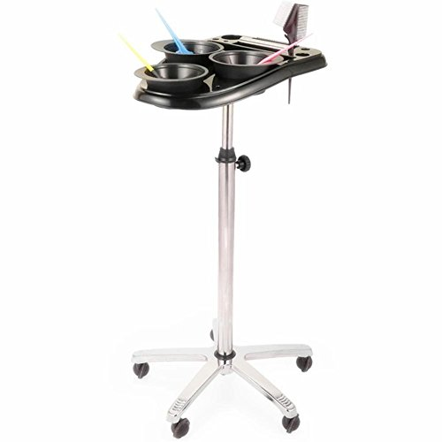 Trolley Bowl (Professional Hairdresser Trolley Salon Beauty Storage Rack Dryer Scissors Tray Hair Coloring Dyes Bowls)