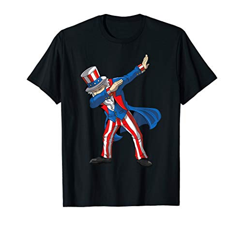 Dabbing Uncle Sam Shirt Funny 4th Of July Men Kids Gifts T-Shirt