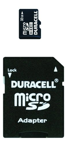 Duracell 32 GB Class 2 Micro Secure Digital Card with SD Adaptor DU-2IN1-32G-R by Dane-Elec