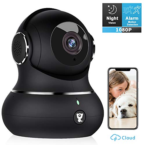 Wireless Security Camera, Pet Camera - Littlelf 1080P Home WiFi Surveillance Indoor IP Camera for Baby/Elder/Pet/Nanny Monitor with Motion Detection, 2-Way Audio, Night Vision, TF Card & Cloud Storage (Pets Camera)