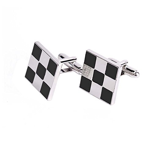 Hosaire Men's Cufflinks Square Mosaic Cuff Link Delicate Cuff-link for Wedding Business