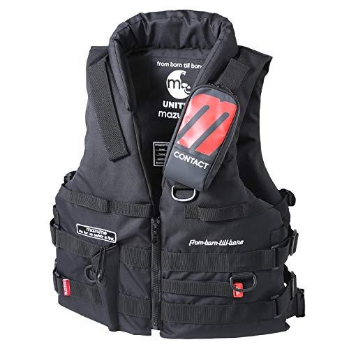 [해외]MAZUME (マズメ) MZX 콘택트 구명 조끼 MZXLJ-062-01 블랙 F / MAZUME MZX Contact Life Jacket MZXLJ-062-01 Black F
