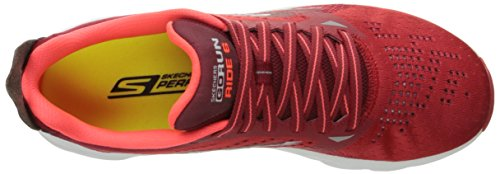 Skechers Go Run Ride 6, Scarpe Sportive Outdoor Uomo Rosso (Red)