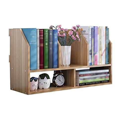 Bookshelf Bookcase Desktop Children's Simple Desk Shelf Creative Desk Bookcase Storage Student Simple and Modern HUYP (Color : Khaki) ()