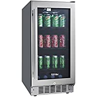 Titan TT-CBC1580SZ 80-Can Beverage Cooler SEAMLESS Stainless Steel
