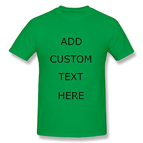 XXI0c2sd2s Design Your OWN Shirt Customized T-Shirt - Add Your Picture Photo Text Print (KellyGreen - S)
