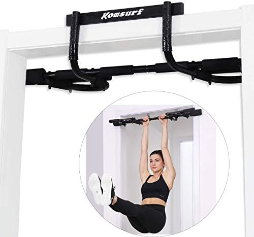 Komsurf Pull up Bar for Doorway, Door Pullup Chin up Bar Home, Multifunctional Portable Dip bar Fitness, Exercise Equipment Body Gym System No Screws Trainer 1