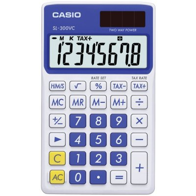 Casio Sl300vcbesih Solar Wallet Calculator With 8-Digit