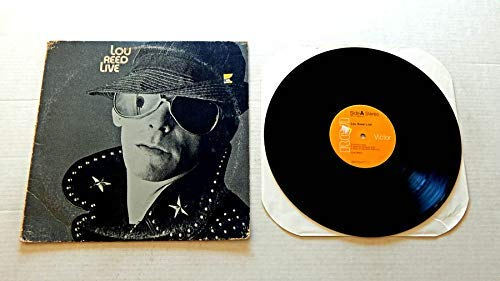 Lou Reed Live 1975 - RCA Records 1975 - Used Vinyl LP Record - 1975 Pressing Sterling APL1-0959 - Walk On The Wild Side - Satellite Of Love - I'm Waiting For The Man