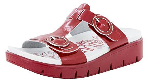 Sandals Red Patent (Alegria Women's Vita Duo Red Patent Sandal (VIT-104D) Size: Euro 37 \ US 7-7.5)