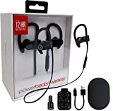Beats by Dr. Powerbeats3 Wireless Earphones -Black & USB & Ear Gel (Refurbished)